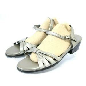 SAS Tripad Strippy Women's Sandals Size 8.5 Silver